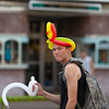Balloon hat; Main Street, Pendleton