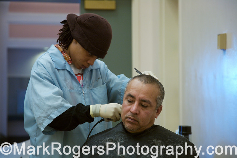 Barber and client at Project Homeless Connect #20