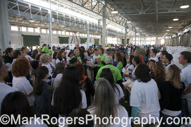Volunteer Rally<br /> Project Homeless Connect #22<br /> Pier 48, June 2008