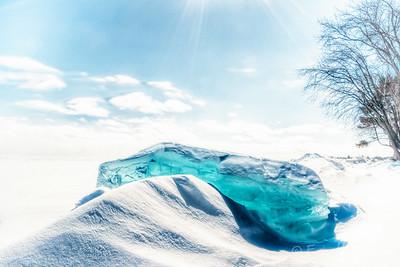 Turquoise Ice Jewel, Lake Simcoe, Ontario