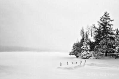 Winter, Lake Mephramagog, Quebec