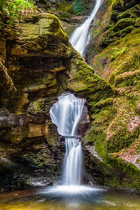 Hole in the Rock Waterfall, St Nectans Glen, Trethevy, Cornwall, England
