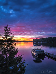 Eagle Lake Sunset, Machar Township, Ontario