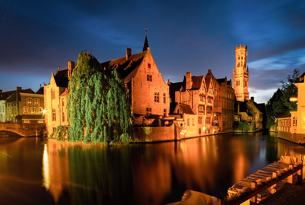 Rozenhoedkaai Sunset, Bruges, Belgium