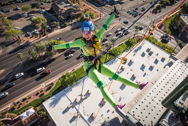 Girl Scouts SoAZ Over the Edge 2017
