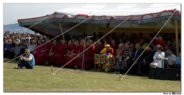 The datsan sponsors a traditional sports festival after the festival, and the lamas are among the most avid spectators.