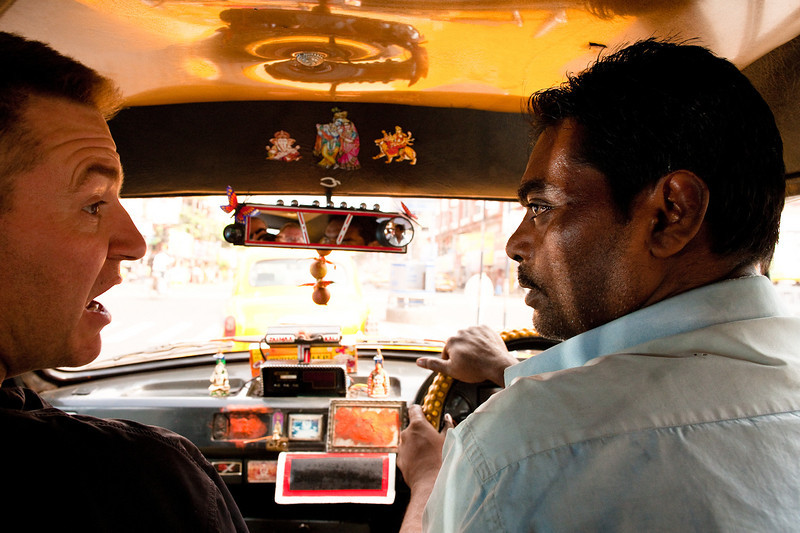 Nooo, we said 80 Rupees! In Kolkata traffic seeking the protection by the gods is not a bad idea.