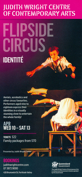Flipside Circus - 'Identite': Judith Wright Centre of Contemporary Arts