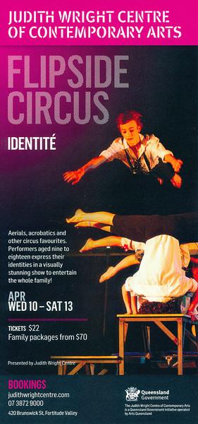 Flipside Circus - 'Identite': Judith Wright Centre of Contemporary Arts