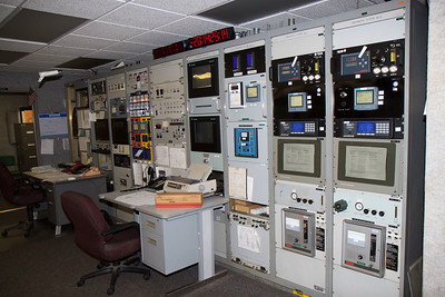 This is where they monitor the fuel during shuttle launches. Except for a few emergency personnel, this is the closest anyone is to the launch pad during a launch. Behind me is a safe room with super thick walls in case anything goes wrong.