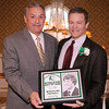 03-28-2010...2010 Ramapo High School Athletic Hall of Fame inductee,  Steve Cannon, class of 1979 (right-Wrestling, Footballl) presented by Hall of Fame Committee Member Mike Miello.<br /> PHOTO: KELLY BIRDSEYE