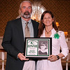 03-28-2010...2010 Ramapo High School Athletic Hall of Fame inductee, Amanda Cohen, class of 1986 (right-Soccer, Softball) presented by Hall of Fame Executive Committe member, Paul Heenahan.<br /> PHOTO: KELLY BIRDSEYE