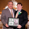 03-28-2010...2010 Ramapo High School Athletic Hall of Fame inductee, Mike Cauda (right-Assistant Coach, Football, Baseball, Softball) presented by Hall of Fame Committee Member Mike Miello.<br /> PHOTO: KELLY BIRDSEYE