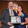 03-28-2010...2010 Ramapo High School Athletic Hall of Fame inductee, Katie Kleinert (right-Soccer, Basketballl) presented by Hall of Fame Executive Committe member, Paul Heenahan.<br /> PHOTO: KELLY BIRDSEYE