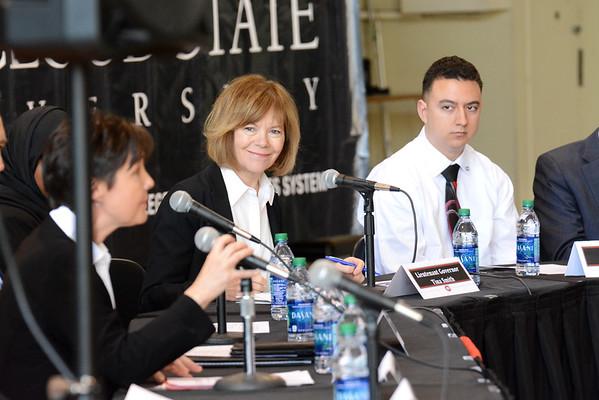 041416 NL AK Lt. Governor visits campus - Eastman Hall