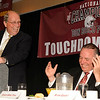 05/12/2010...Former Bergen Catholic High School Football Coach and competative rival Coach Fred Stengle (left) surprised the audience at the Roast and Toast for Don Bosco's Head Coach Greg Toal for leading the Don Bosco High School Football team to the rank of National Champion.<br /> PHOTO: KELLY BIRDSEYE