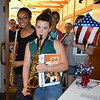 Debby High — For Montgomery Media<br /> Pennridge Central Middle School band members Ash Lyn McCleland and Elizabeth Lomax lead the group out the door after the performance.
