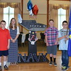 Debby High — For Montgomery Media<br /> Russell Bowers, Ava Lewis, Garrett Nyce and Josh Zelnick represent the U.S. Navy during the in Salute to the Armed Forces program held at Pennridge Community Center.