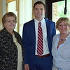 Debby High — For Montgomery Media<br /> Pennridge Community Center board member Patricia Guth, Pennridge Central Middle School Principal Christian Temchatin and Mary Lou Ashworth stand together at the end of the program.