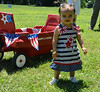 Addison Chauhan won 1st in the Biggest Eyes contest at Pennridge Community Day annual baby parade July 6, 2014. Photo by Debby High