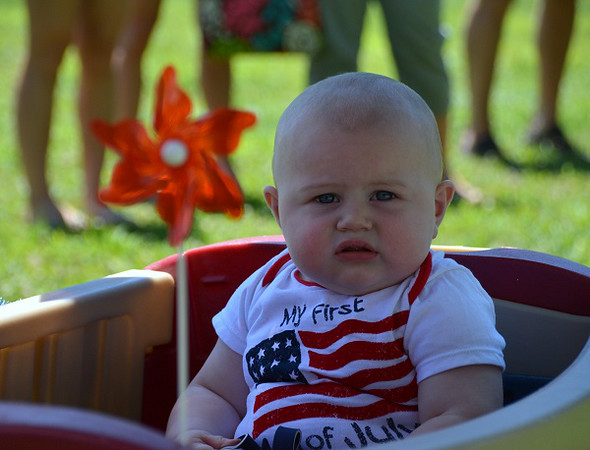 Ryan Gill, 1st place winner of least hair in Pennridge Community Day annual baby parade July 6, 2014. Photo by Debby High