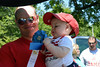 Ryan Gill, of Perkasie, won 1st place for Least Hair in Pennridge Community Day annual baby parade July 6, 2014. Photo by Debby High