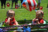 Twins, Ava & Eliana Kligerman both placed for Least Hair in Pennridge Community Day annual baby parade July 6, 2014. Photo by Debby High