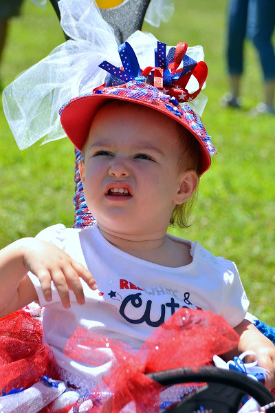 Scarlet-Rose Henning won 2nd in Most Patriotic/Best Dressing inPennridge Community Day annual baby parade July 6, 2014. Photo by Debby High