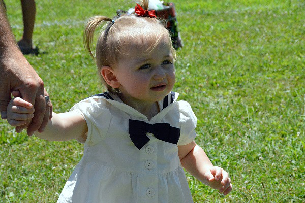 Matilda Crawford-Martin won 2nd for biggest eyes in Pennridge Community Day annual baby parade July 6, 2014. Photo by Debby High