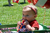 A twin, Eliana Kligerman won 3rd for Least Hair in Pennridge Community Day annual baby parade July 6, 2014. Photo by Debby High