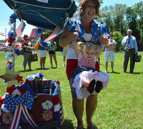 Reianna Maust, of Telford won 1st in Most Patriotic/Best Dressed in Pennridge Community Day annual baby parade July 6, 2014. Photo by Debby High