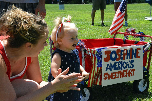 Josephine Antonucci won 2nd for Cheekkiest Cheeks in Pennridge Community Day annual baby parade July 6, 2014. Photo by Debby High