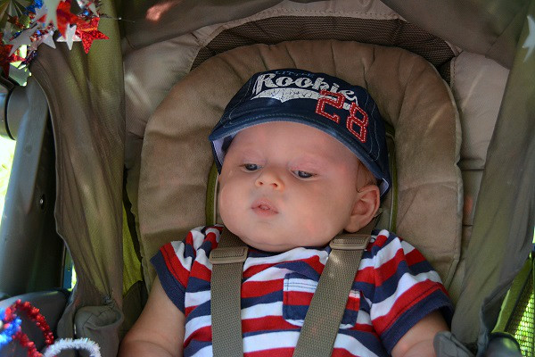 James Levy of Perkasie won 3rd place for Cheekiest Cheeks in Pennridge Community Day annual baby parade July 6, 2014. Photo by Debby High