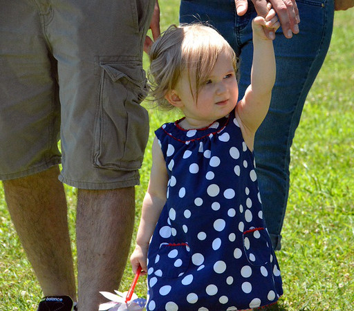 Marli LaBuda of Sellersville, won 3rd for Most Hair in Pennridge Community Day annual baby parade July 6, 2014. Photo by Debby High