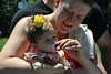 Sage Kline, won 1st place with most hair in Pennridge Community Day annual baby parade July 6, 2014. Photo by Debby High