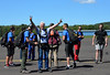 Pete Juisto, 80yr old birthday celebration came to completion as he prepared to skydive with family and friends. Photo by Debby High