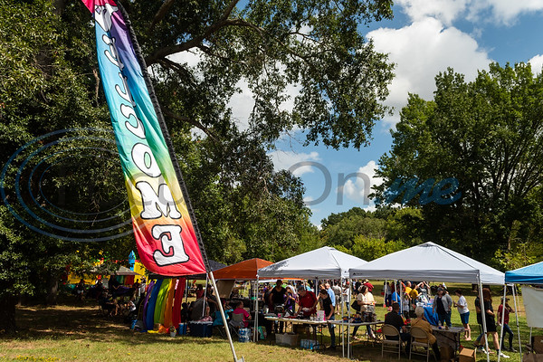 Over 200 people enjoy vendor booths, free food and activities during Tyler Area Gay's inaugural Pride in the Park event Saturday, Sept. 21, 2019, at Southside Park in Tyler. (Cara Campbell/Tyler Morning Telegraph)