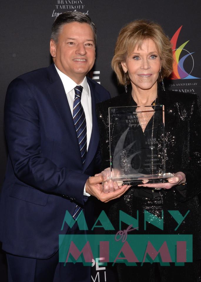 Ted Sarandos, Jane Fonda