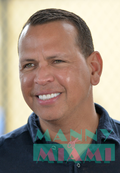 MIAMI, FL - JANUARY 29: Alex Rodriguez at the Fox Sports $200,0000 donation for the Boys and Girls Club of Miami on January 29th, 2020 in Miami, FL (Manny Hernandez)