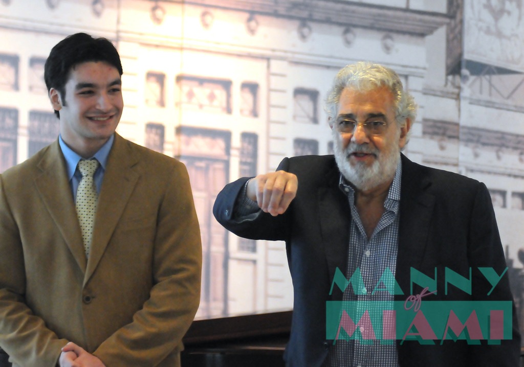 MIAMI, FL--JANUARY 6, 2013-- Placido Domingo mentors students with a Master Class at YoungArts week. (photo by Manny Hernandez)