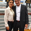 Ft. LAUDERDALE, FL--OCTOBER 16, 2011--Salma Hayek and Antonio Banderas at the Allure Of The Seas Premiere Of,  Puss In Boots, at Port Everglades. (Photo by MANNY HERNANDEZ)