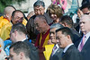 His Holiness, the Dalai Lama, as he comes down the steps of the U.S. Capital.