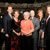 (left) Rev. Louis Molinelli, SDB Director/President of Don Bosco Prep., Don Bosco Prep Hall of Fame inductee Thomas Haskins (class of 1980) of  New York city, his sister Kathy, his mother Mary Haskins, his father Gerry Haskins, his sister Maureen and his brother Bob Haskins.<br /> PHOTO: KELLY BIRDSEYE