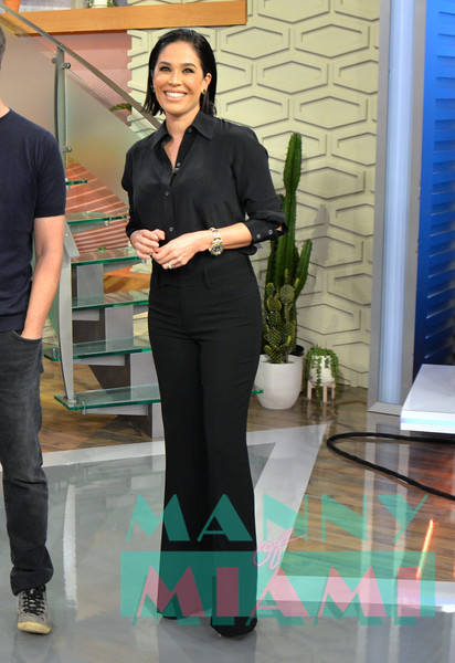 MIAMI, FL - OCTOBER 9:  Karla Martinez visits Despierta America at Univision network. (Photo by Manny Hernandez)
