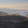 Sierra la Giganta und Agua Verde vom Bergpass aus gesehen - Tag 3