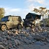 Baja ist ein raues Land - nicht immer gibt es feinen Sand zum Camping