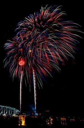 4th of July Fireworks 2010 Nashville, TN