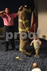 Firefighters at Library Story Time