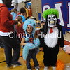 Charleigh Blanchard and Gavin Sharp try on costumes during Camanche Fall Festival on Saturday at Camanche Middle School. • Natalie Conrad/Clinton Herald