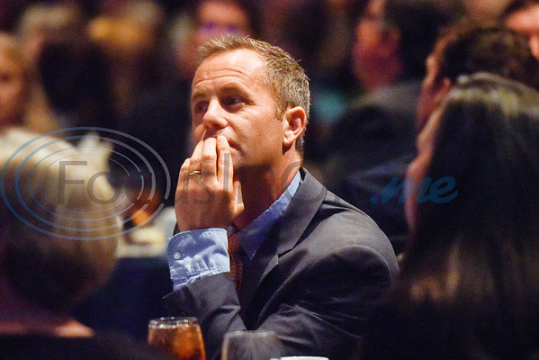 Actor Kirk Cameron listens during Christian Homes and Family Services' fall dinner at Green Acres Baptist Church in Tyler, Texas, on Tuesday, Oct. 16, 2018. (Chelsea Purgahn/Tyler Morning Telegraph)